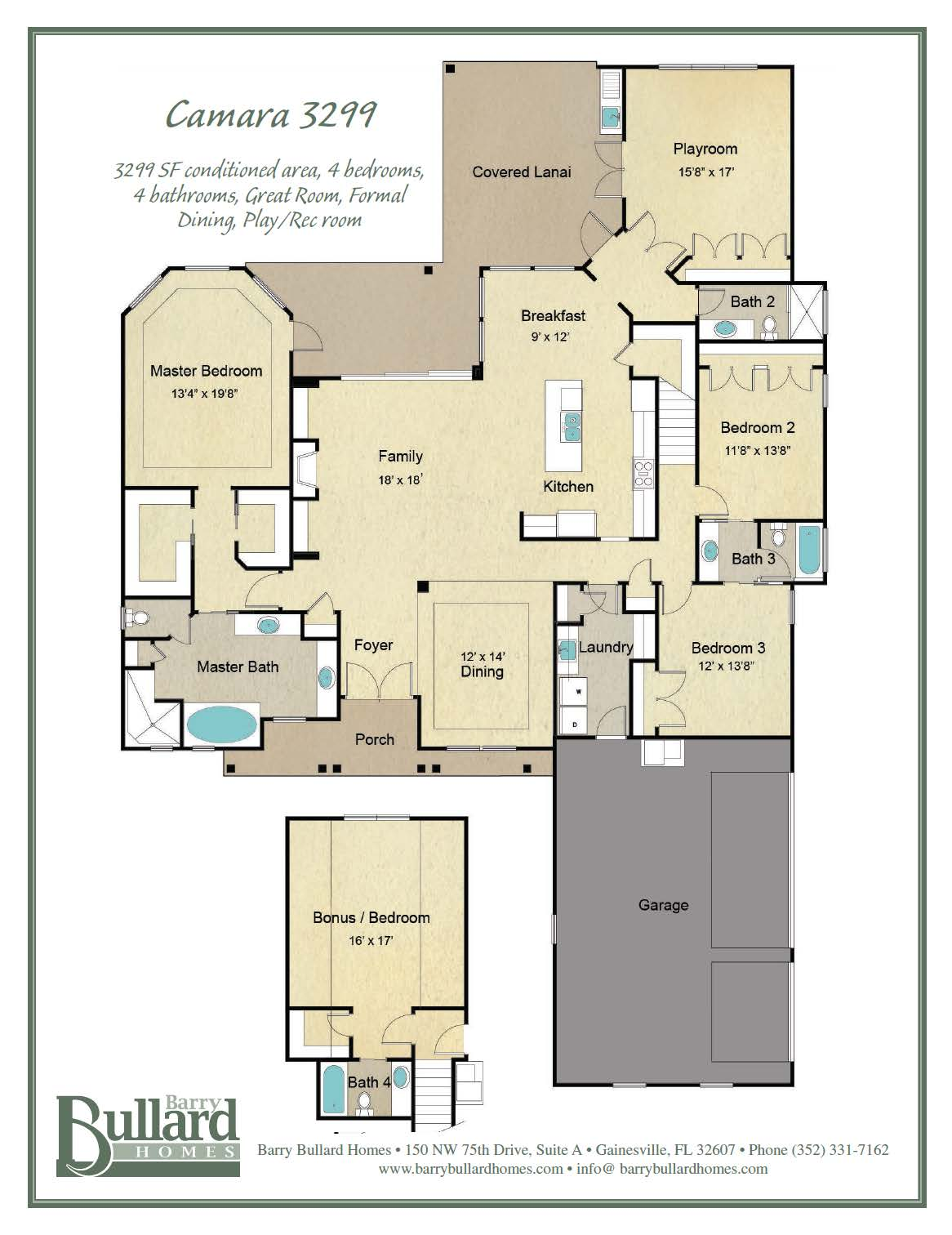 Custom Houses FloorPlans 3299